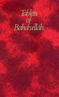 Tablets of Baha'u'llah book cover